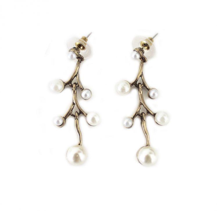 Pendientes fantasía perlas