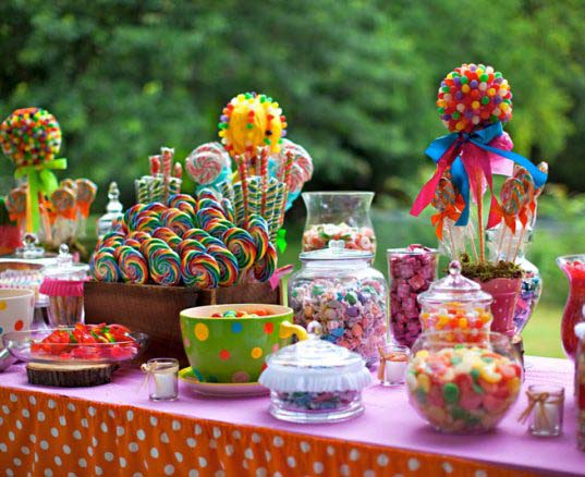 Ideas para decorar con Candy Bar en Comuniones
