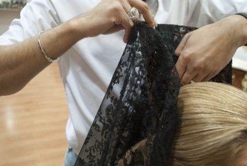 Como poner la mantilla en pelo corto