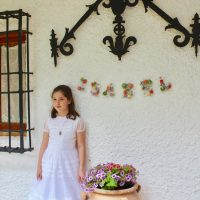 Como hacer iniciales con flores