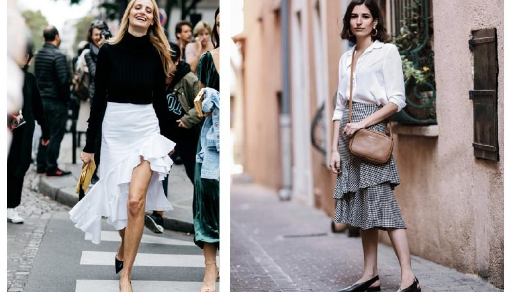 falda de volantes prenda tendencia verano