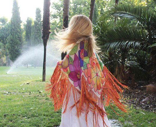 ponchos de seda natural
