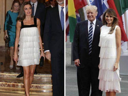 reina Letizia y Melania Trump