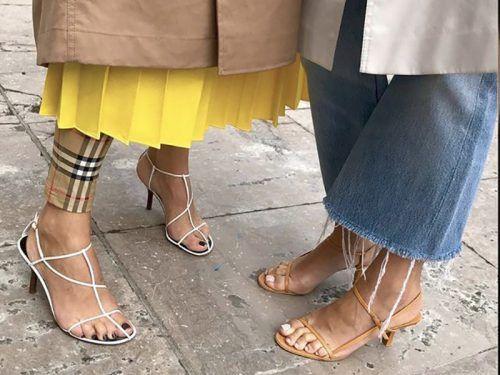 sandalias de moda naked