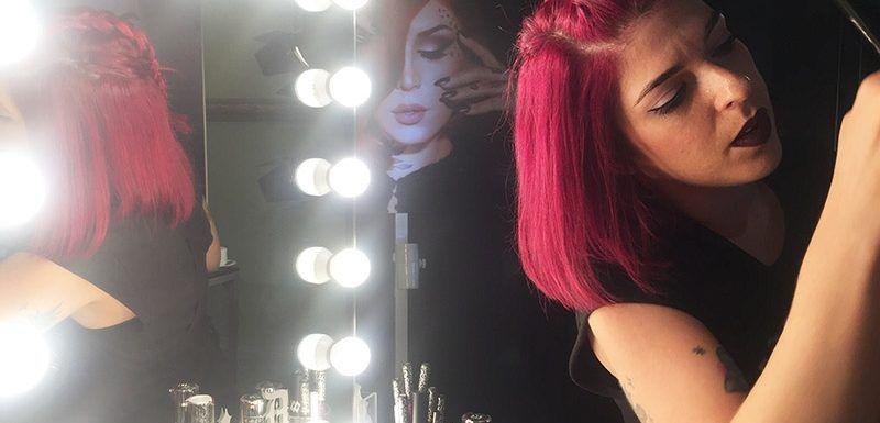 radiante en Navidad maquillaje