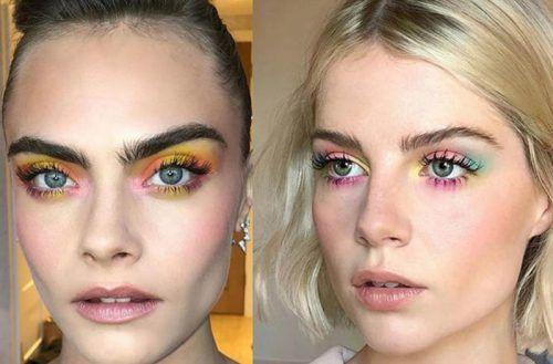 tendencias de maquillaje de otoño tonos neón