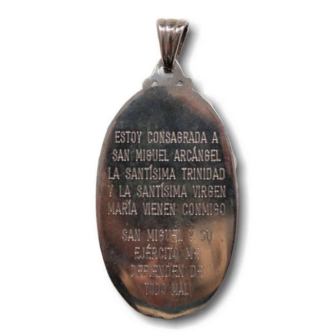 Medalla de San Miguel fabricada en plata de Ley
